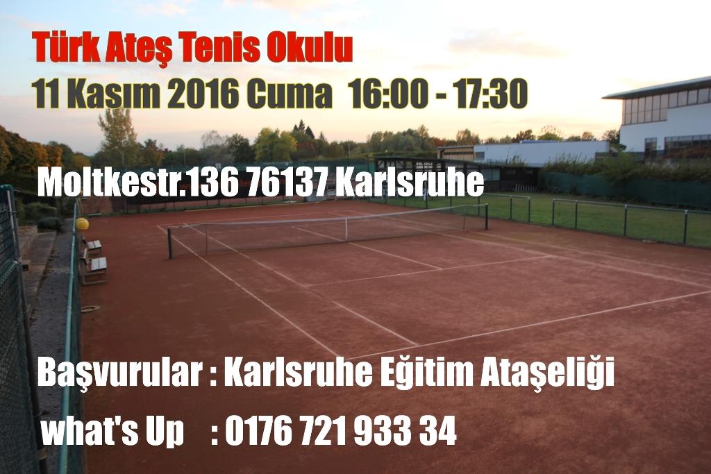 Türk Ateş Tenis Okulu Açılıyor !!!