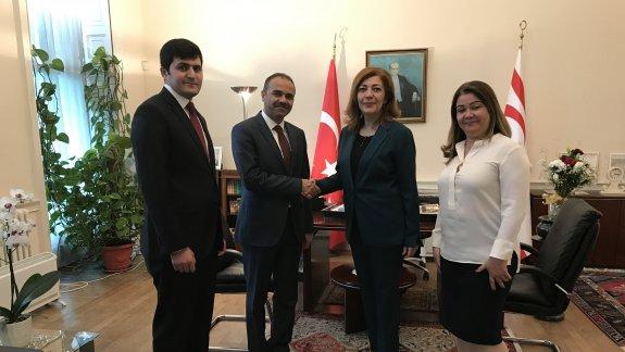 Eğitim Müşavirimiz Hasan Ünsal'dan, KKTC Temsilcisi Büyükelçisine Ziyaret