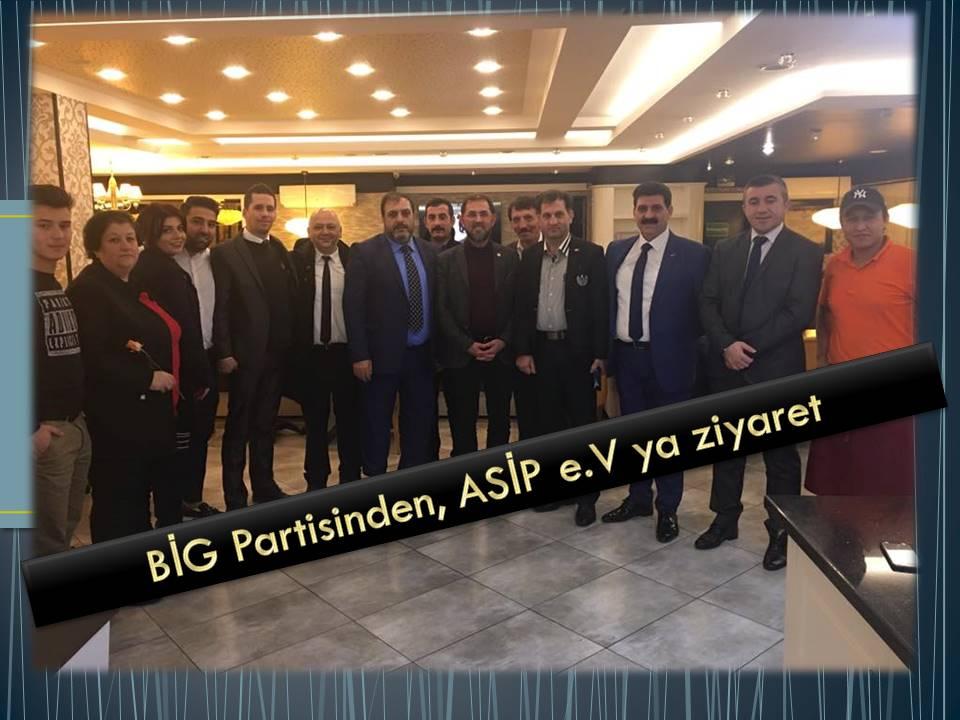 BİG Partisinden, ASİP Ziyareti