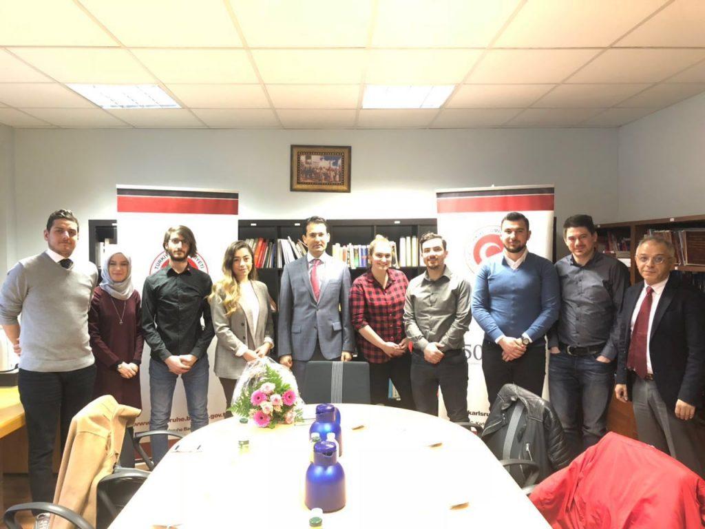 Karlsruhe Türk Öğrenciler Derneği Yöneticileri, Karlsruhe Başkonsolosu Nevzat Arslan ile Görüştü