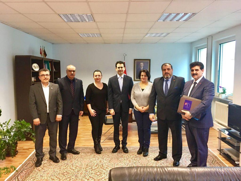 Avrupa Sivil İnsiyatif Platformu Yöneticileri, Başkonsolos Nevzat Arslan'ı Ziyaret Etti.