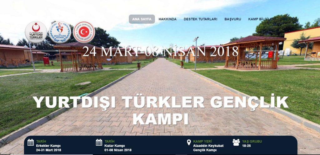 Yurt Dışı Türkler Gençlik Kampı… Üstelik Ücretsiz…