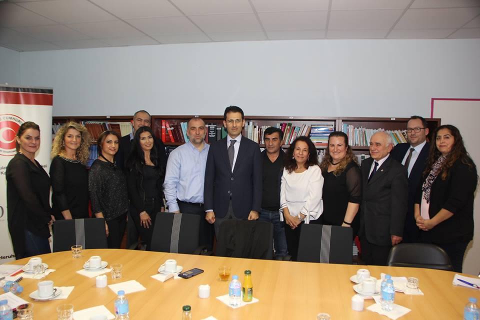 Eğitim Gönüllüleri Karlsruhe Başkonsolosu Nevzat Arslan'ı Ziyaret Etti