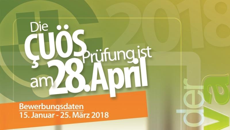 Çukurova Üniversitesi Yabancı Öğrenci Sınavı (ÇÜÖS) 28 Nisan 2018 tarihinde gerçekleştirilecek olup,