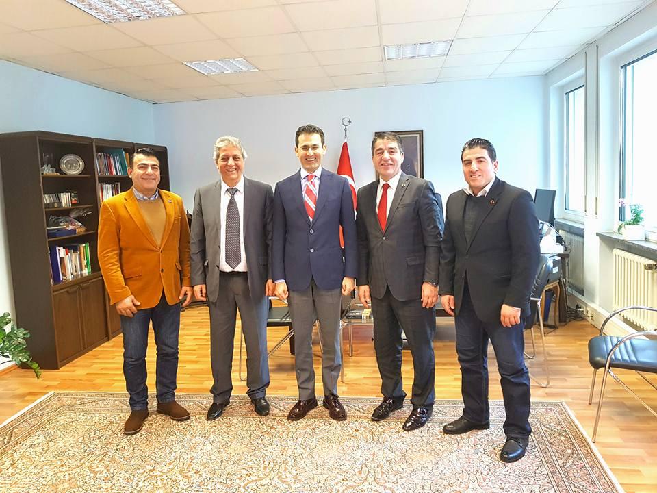 Avrupa Malatyalılar Federasyonu Başkanı Murat Alabaş, Karlsruhe Başkonsolosu Nevzat Arslan'a Nezaket Ziyaretinde Bulundu