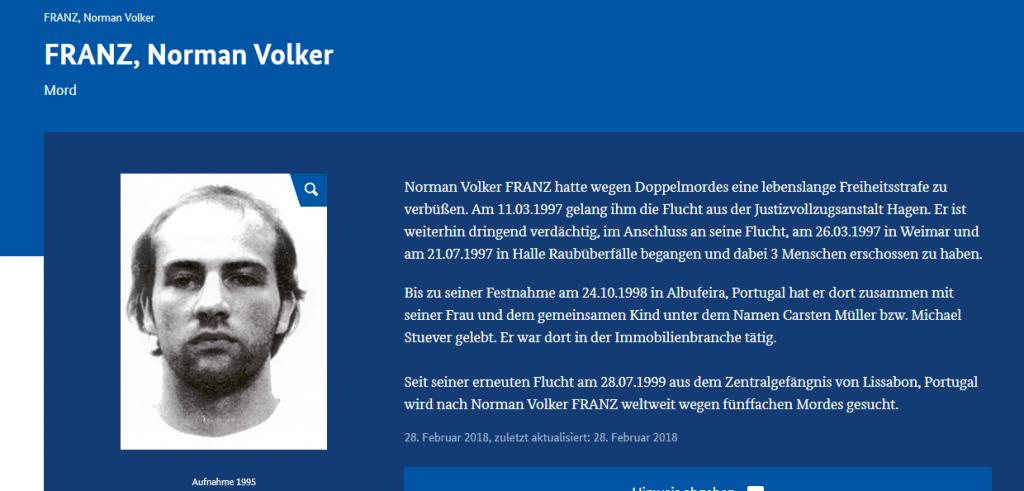 Alman Kriminal Dairesi Seri Katili Arıyor !!!