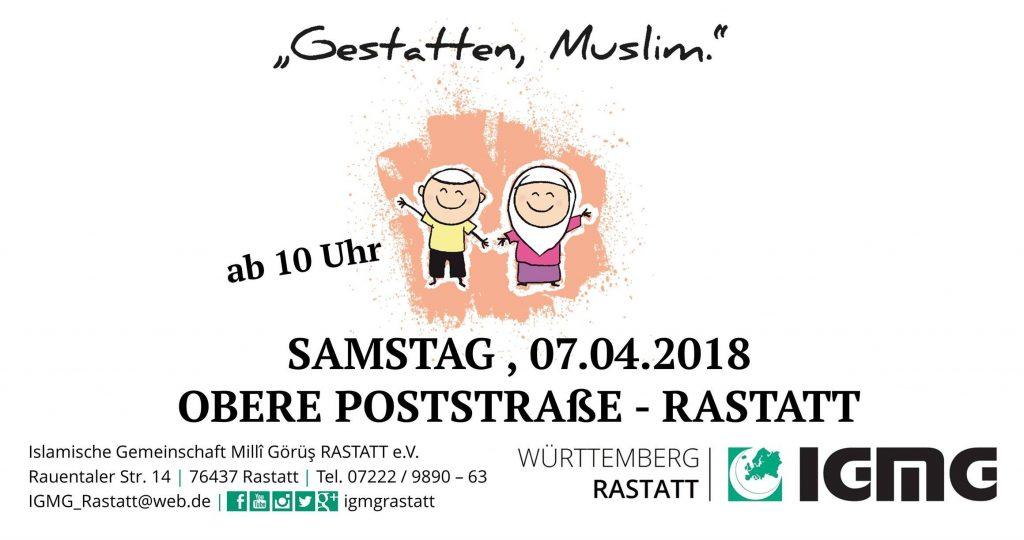"""Europaweite Straßenaktion: """"Gestatten, Muslim."""""""