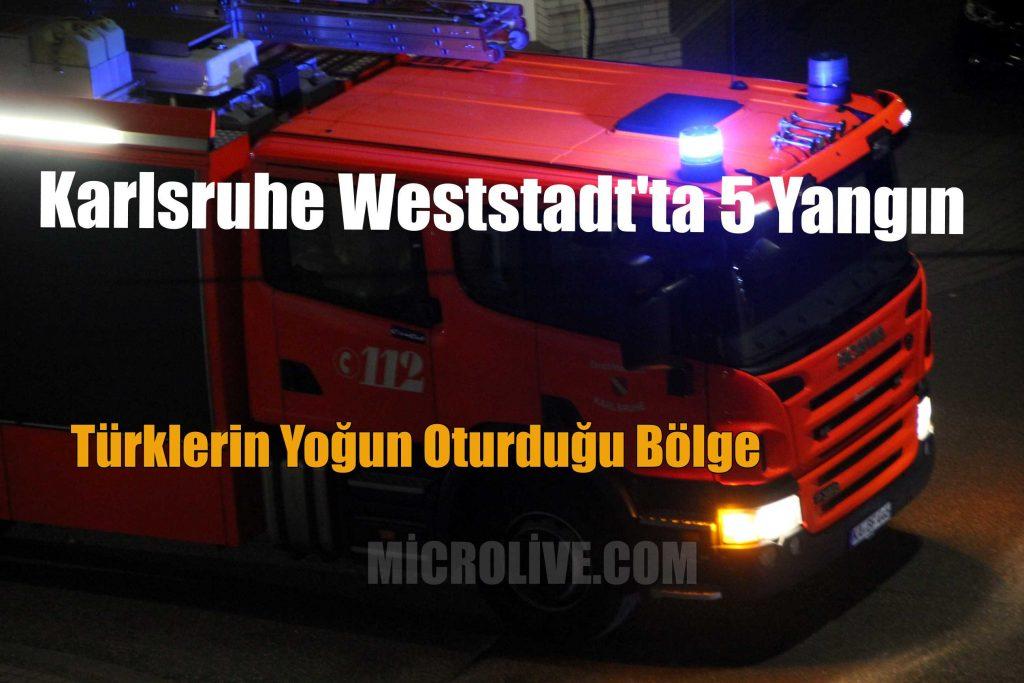 Karlsruhe'de Seri Yangın