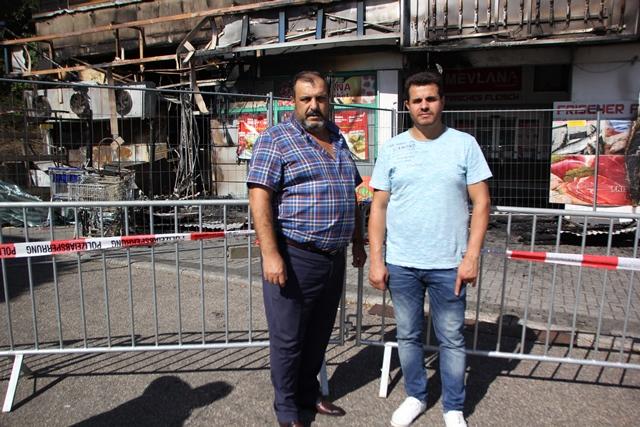 Bretten'de Türk Marketi Yandı