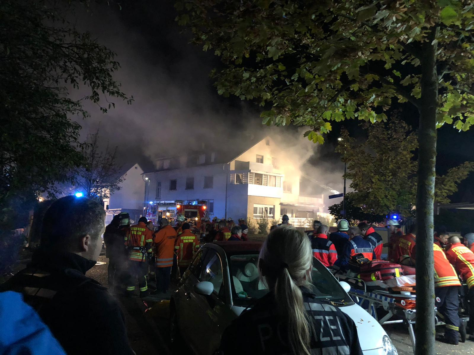"""Sedat Demir """" Büyük geçmiş olsun. Malsch kasabasında yangında can kaybı yok."""""""