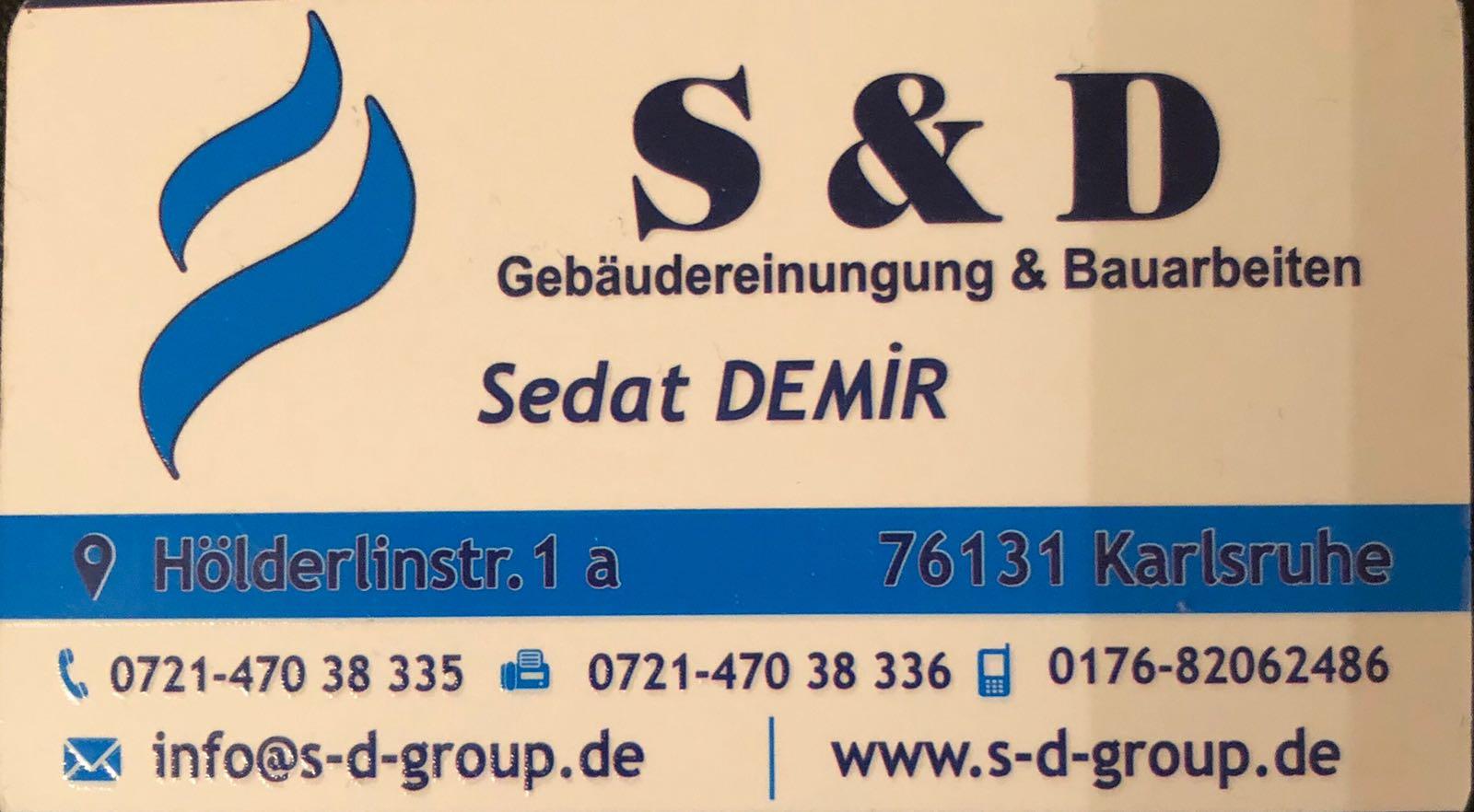 """S&D GROUP Gebäudereinigung – Bauarbeiten : """"Gutes Neues Jahr."""""""