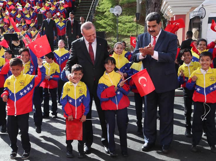 Cumhurbaşkanı Erdoğan, Venezuela Miraflores Sarayı'nda